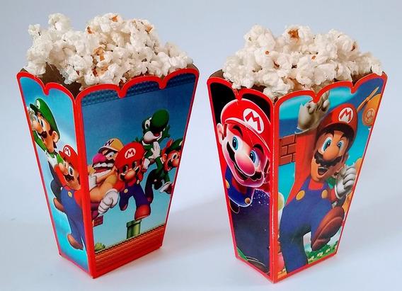 Mario Bros 50 Cajas Palomeras Botaneras Articulos De Fiesta