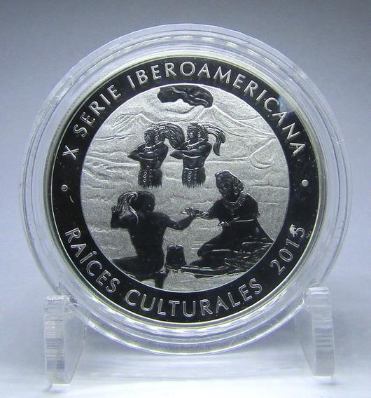 Guatemala Moneda De Plata Raices Culturales 1 Quetzal 2015