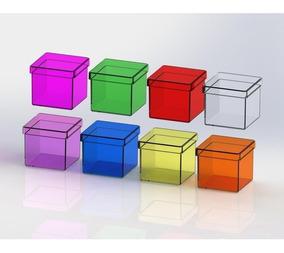150 Caixinha Quadrada 4x4 Cristal Acrilico Preco Imbativel