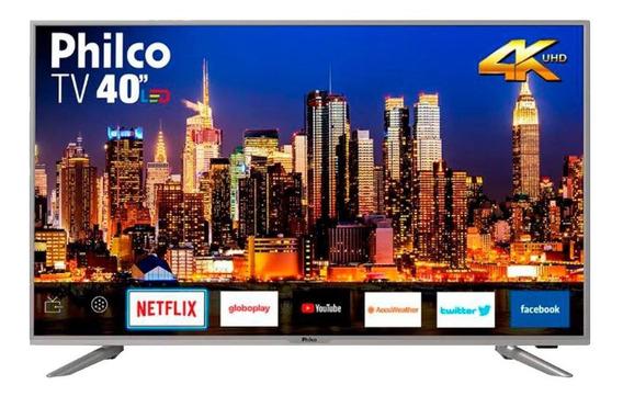 Smart Tv Philco 40 Polegadas Led 4k 40ptv40g50sns Prata