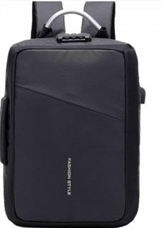 Mochila Antirrobo Con Puerto Usb Laptop Tablet