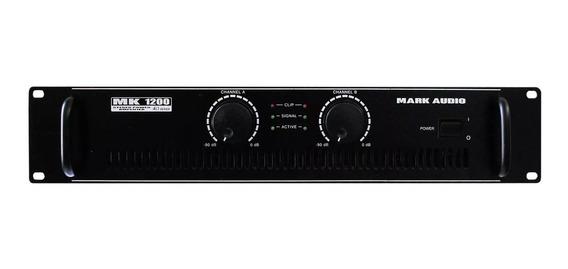 Amplificador Potência Mark Audio Mk1200 200wrms(bivolt)