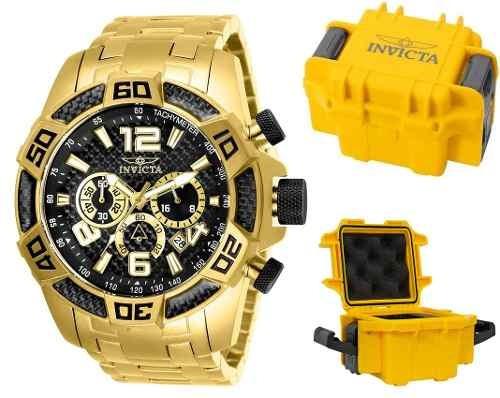 Relógio Invicta Pro Diver 25853 Original Banhado Ouro Maleta