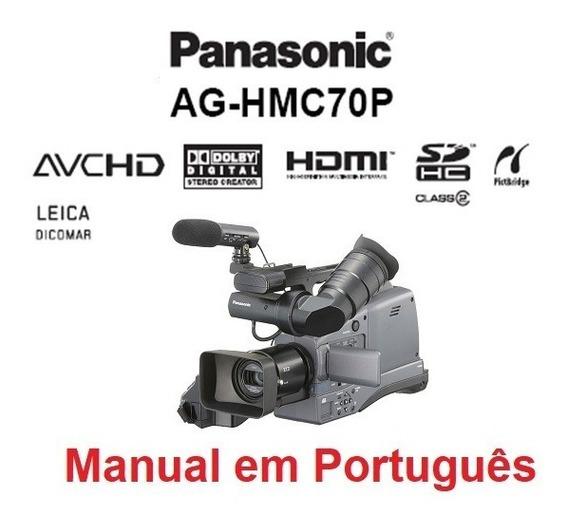 Manual Em Português Da Filmadora Panasonic Ag-hmc70