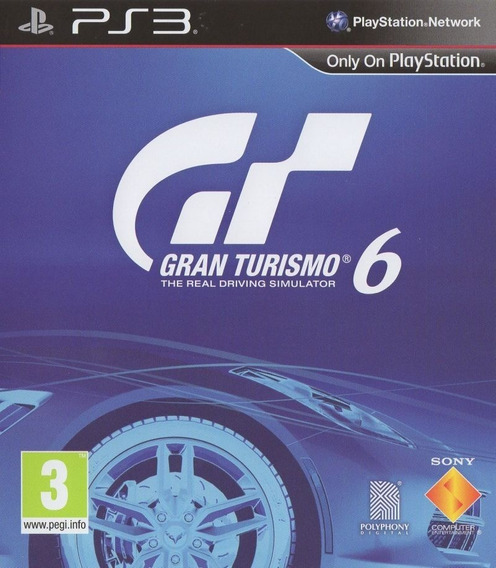 Gran Turismo 6 - Psn Ps3 Play 3 Português Br