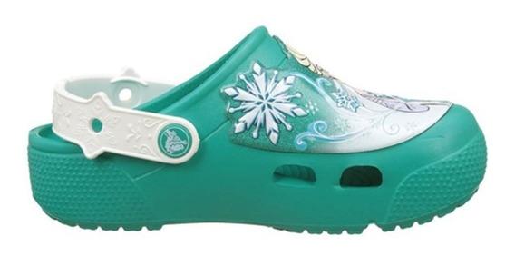 Crocs Originales Fl Frozen Clog C3n9 Elsa Luz Oferta Asfl70