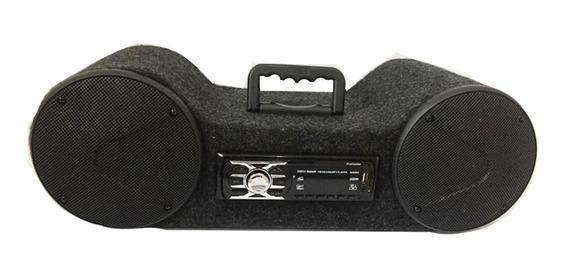 Radio Caixa Portatil Som Bluetooth Fm Usb Sd Mp3 Player