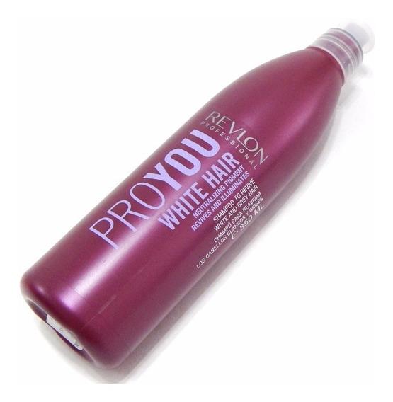 Shampoo Revlon Pro You White Hair Pelo Blanco 350ml - Silver