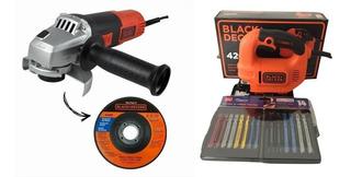 Esmerilhadeira Angular +serra Tico-tico 420w Black+decker