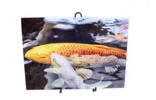 Tabla De Cortar De Vidrio Mcaulay Arts Koi Fish 15.25 X 11.2