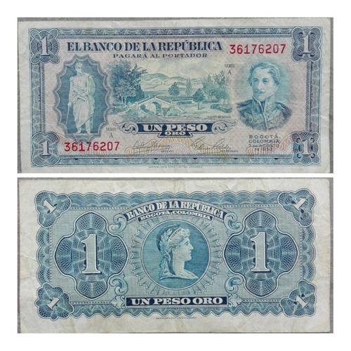 Imagen 1 de 1 de Billete De 1 Peso Oro De 1953