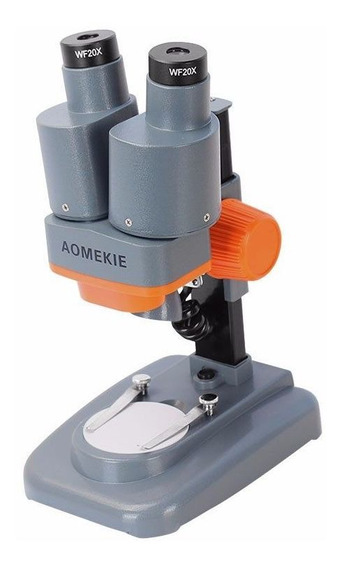 Microscópio Estéreo Binocular Aomekie 20x Luz Led Pcb Solda