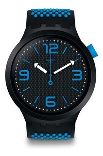 Reloj Swatch Big Bold Negro Con Turquesa So27b101