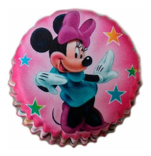 Capacillos De Minnie Mouse Para Cupcakes 25 Unidades