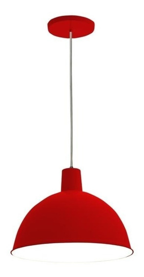 Lustre Design Td 821 Pendente Vermelho Taschibra - Novo
