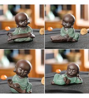 4pcs Bebé Buda Decoración De Bandeja De Té Asiática