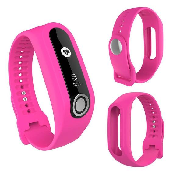 Pulseira Rosa Compatível Para Tomtom Touch Fitness Tracker