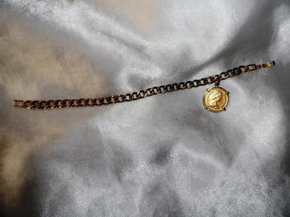 Linda,elegante Pulseira Vintage Banho Ouro,england,déc.60