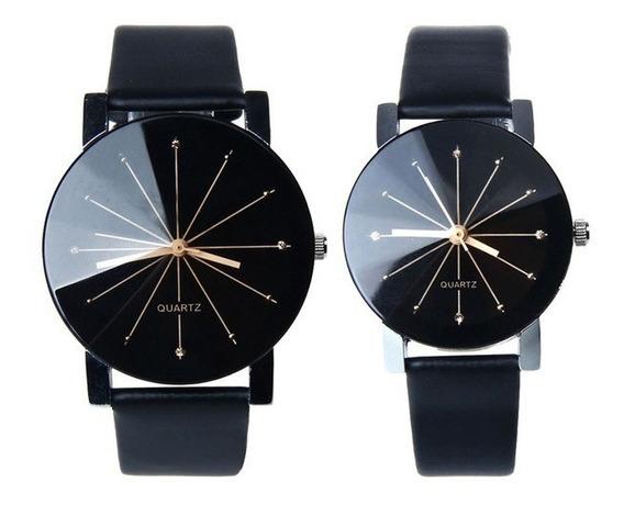 Relógio Do Casal Preto Quartzo