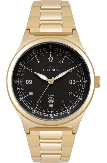 Relógio Technos Dourado Masculino Militar 2115mqy/4p