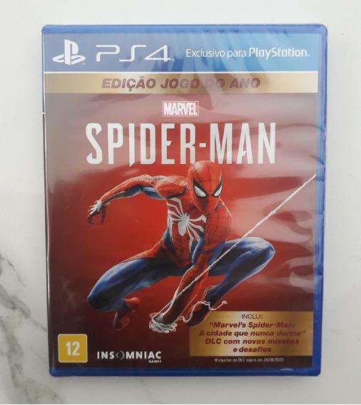 Spiderman Homem Aranha Ps4 Mídia Física Português Novo Jogo