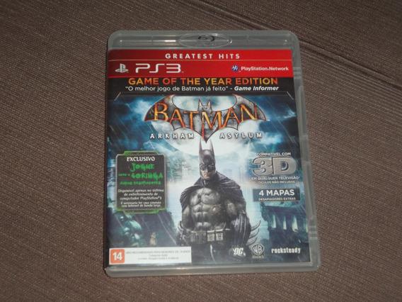 Batman Arkham Asylum ( Jogo Original Ps3 Mídia Fisica )