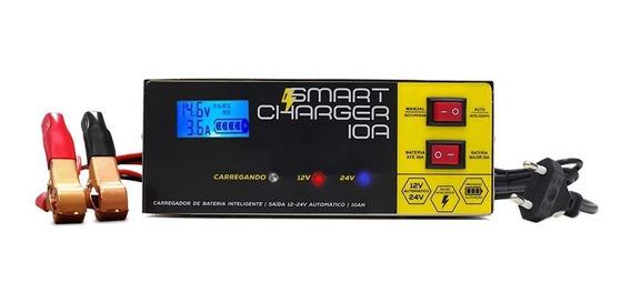 Carregador Bateria Carro Moto Caminhão 10a Digital 12v 24v