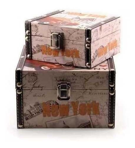 Jogo Com 2 Baús Porta Objetos New York F1b - Wj021-car-m