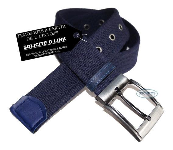 Cinto Lona Premium Masculino Fivela C/ Regulagem L46 Full