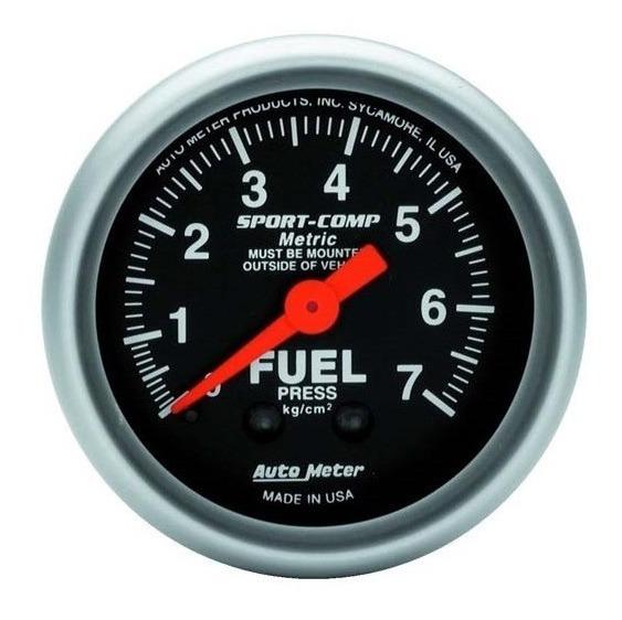 Manômetro Auto Meter Sport Comp Combustível Fuel 7 Bar 67mm