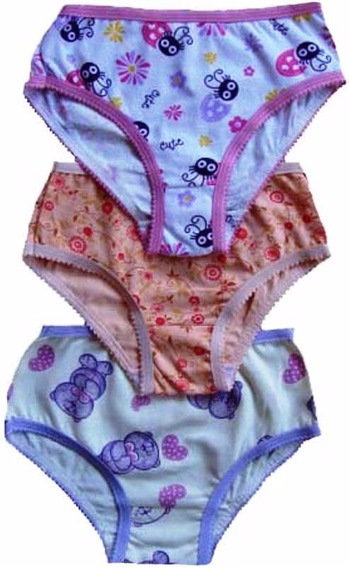 Kit 20 Roupa Intima Infantil Bebe Feminina Varias Estampas