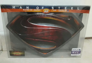 Man Of Steel: Collector´s Edition Blu Ray 3d + Blu Ray + Dvd