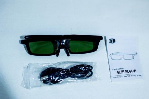 Óculos 3d Sainsonic (par) Para Projetores Epson E Optoma