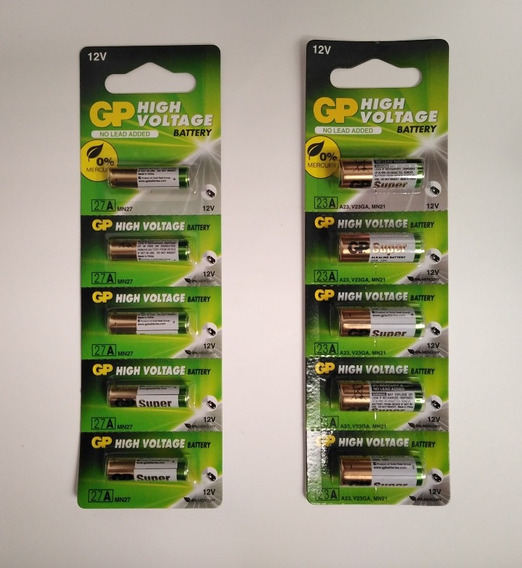 Bateria Pila 23a 27a Marca Gp Original Precio Blister 5 Unid
