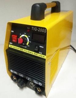 Máquina De Solda Inversora Tig+mma 200a Portátil 220v