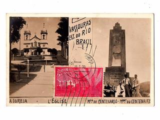 Cartao Postal Tipografico Centenario Vassouras Rj - 1933