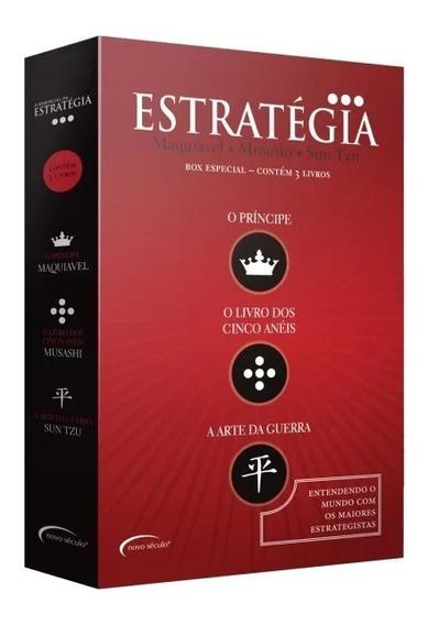 3 Livros Box O Essencial Da Estratégia Liderança Negócio Adm