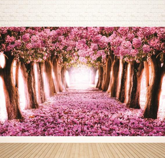 Fundo Fotográfico Em Tecido Cerejeiras Floridas 2,80 X 1,50