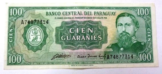 Paraguay Billete 100 Guaranies 1952 (1982) Xf Pick 205