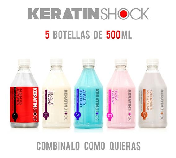 Keratina + Alisado +lifting + Acondi+ Neutro 5 X500