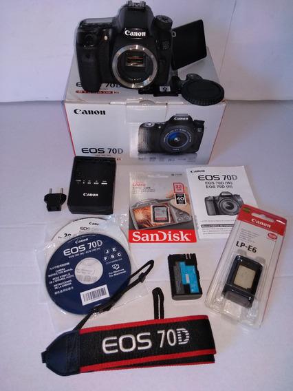 Câmera Canon Eos 70d Dslr Full Hd Clicks=5891 (só O Corpo)
