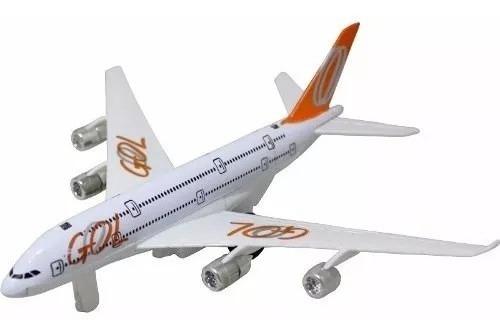 Miniatura De Avião Gol Com Som E Luzes Lindo Conj 11 Pç