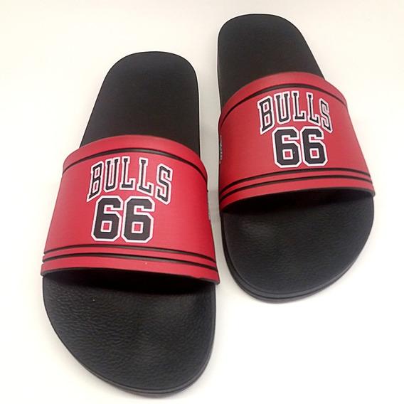 Chinelo Slide Chicago Bulls Nba Original Basquete Vermelho