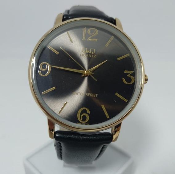 Relógio Q&q By Citizen Dourado Fundo Preto Q854-105y