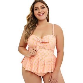 Tamanho Extra Tankini Swimwear Biquini Para Mulheres L-5xl