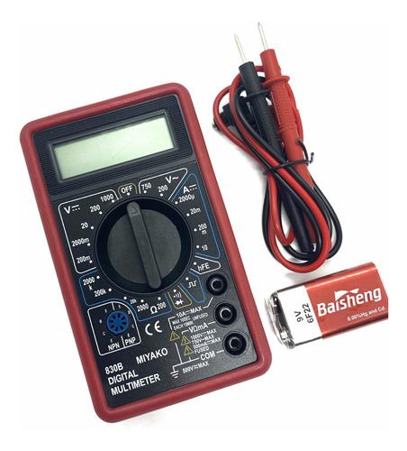 Multimetro Digital Miyako Original Tester 830b