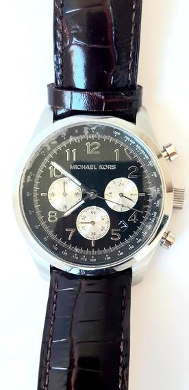 Michael Kors Chronograph. Couro.masculino. Mk8126