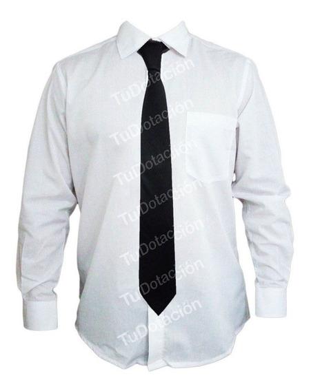 Corbata Negra De Caballero 8 Cm De Ancho Uniforme Vigilancia