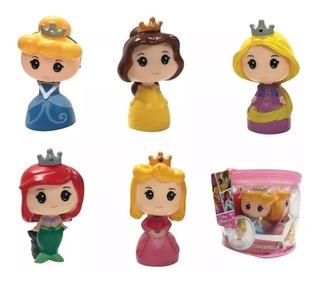 Set 5 Muñecos Princesas Disney Torta Cabezon Tipo Funko