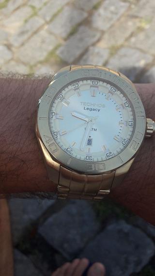 Relógio Techinic Legacy Banhado A Ouro Original